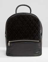 Urban Code Urbancode Backpack With Quilted Suede Panel