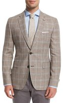 HUGO BOSS Jayden Plaid Two-Button Sport Coat, Tan