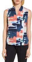 Emerson Rose Abstract Print Silk Blend Blouse