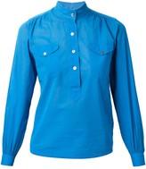 Saint Laurent Pre Owned mandarin collar blouse