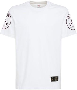 Nike Jordan Psg Printed Cotton Jersey T-Shirt