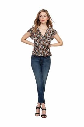 Dex women's 1623259 D Short Sleeve Ruffle Blouse