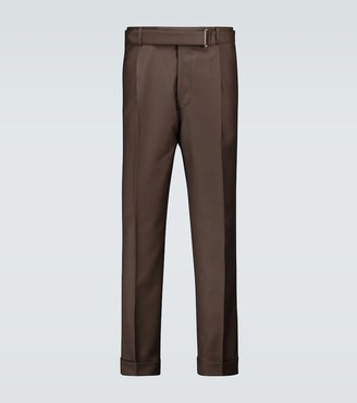 Officine Generale Belted wool pants