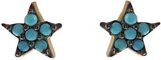 Wild Hearts Turquoise Mini Star Ear Studs Gold