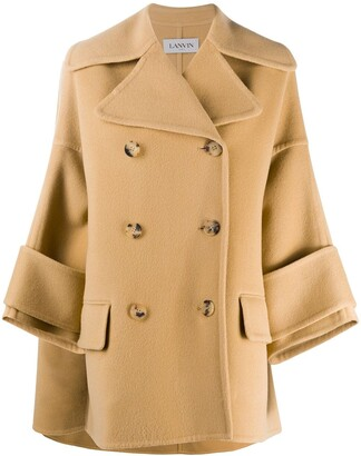 Lanvin double breasted A-line coat