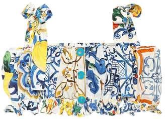 Dolce & Gabbana Majolica-print cotton top