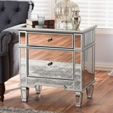 Baxton Studio Sussie Mirrored Nightstand