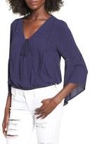 Sun & Shadow Women's Surplice Bell Sleeve Top