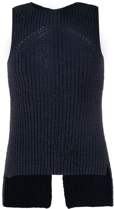 Eudon Choi Two-Tone Knitted Vest