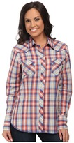 Roper 9807 Orange Sunset Plaid
