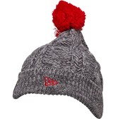 New Era NFL San Francisco 49Ers Cable Knitted Bobble Hat Grey/Red