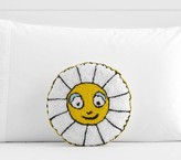 Pottery Barn Kids Margherita Missoni Daisy Face Shaped Pillow, White-yellow