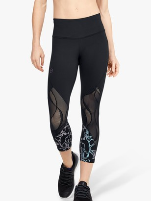 Under Armour Rush Vent Iridescent Graphic Cropped Training Tights