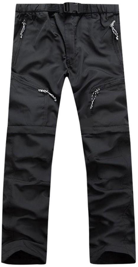 Jaminy Mens Plus Size Quick Dry Trousers Outdoor Thin Detachable Waterproof Sweatpants Casual Jogger Sportwear Comfy Pants (XXL