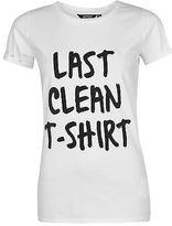 Golddigga Womens Roll Sleeve T Shirt Tee Top Crew Neck Slogan Oversized