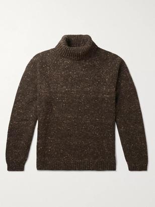 The Row Asher Melange Camel Hair-Blend Rollneck Sweater