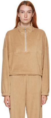 Gil Rodriguez SSENSE Exclusive Beige Terry Diana Half-Zip Sweatshirt