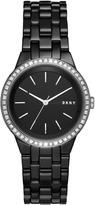 DKNY Park Slope Black Ceramic Watch With Glitz