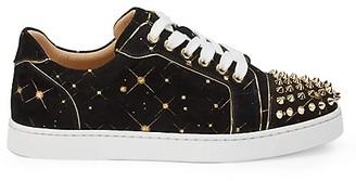 Christian Louboutin Vieira Spikes Suede Sneakers