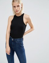 Asos Body With High Neck In Rib