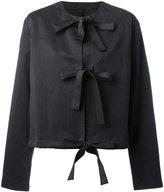 Sara Lanzi front strap jacket - women - Cotton/Linen/Flax - S