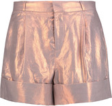 Raoul Iridescent coated-twill shorts