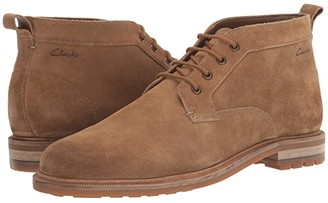 Clarks Foxwell Mid (Dark Sand Suede) Men's Shoes
