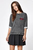 RVCA Campus 3/4 Sleeve Crew Neck Sweatshirt