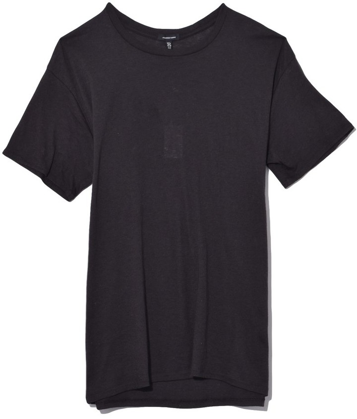 R 13 TS Cotton Cashmere Boy T in Black