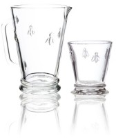 La Rochere Napoleon Bee 34-ounce Pitcher and 6 x 9-ounce Tumblers.