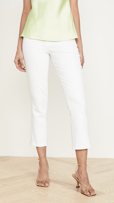 L'Agence Nadia High Rise Crop Straight Jeans