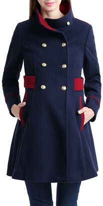 Kimi and Kai Pan Military Wool Blend Maternity Peacoat