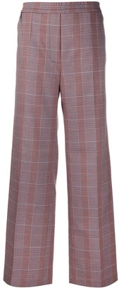 Acne Studios Check-Pattern Straight-Leg Trousers
