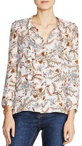 Maje Lixie Printed Tie-Neck Shirt