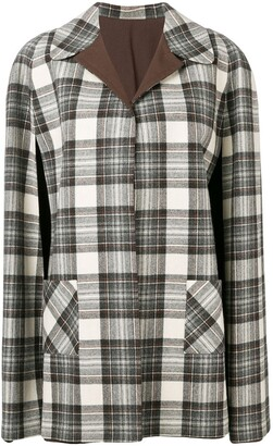 A.N.G.E.L.O. Vintage Cult 1970's Reversible Checked Coat