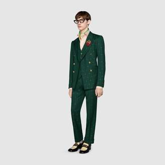 Gucci Interlocking G stripe wool jacket