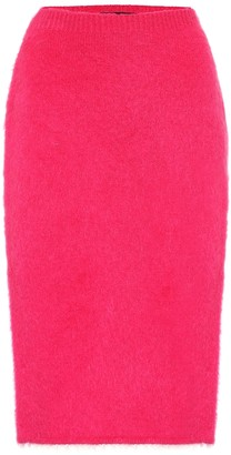 Versace Mohair-blend pencil skirt