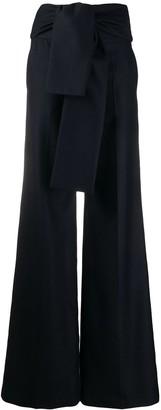 Victoria Victoria Beckham Tie-Waist Wide-Leg Trousers