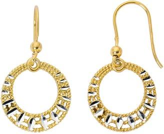 Primavera 24k Gold Over Sterling Silver Gypsy Drop Earrings