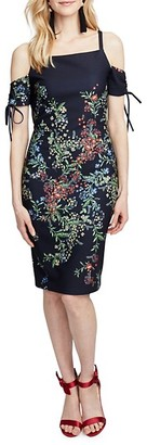 Rachel Roy Rosetta Floral Cold-Shoulder Dress