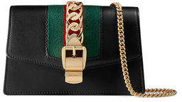 Gucci Sylvie Super Mini Leather Wallet on a Chain