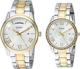 GUESS Men's U0925P1 Boxed Set Silver-Tone & Gold-Tone Watches with Silver Dial and Stainless Steel Band