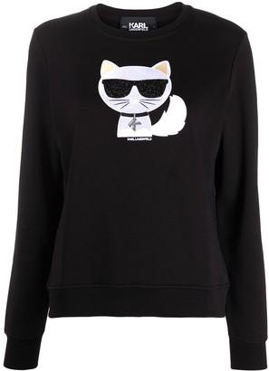 Karl Lagerfeld Paris Choupette crewneck sweatshirt