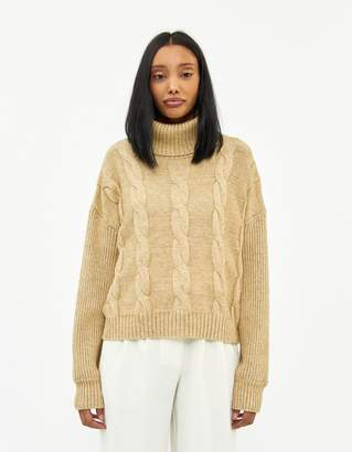 Celine Farrow Turtleneck Sweater in Tan