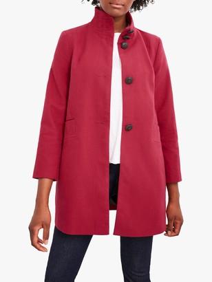 White Stuff Kenley Moleskin Twill Coat, Dark Red