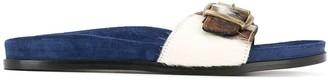 Avec Modération Slip-On Buckle Sandals