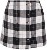 Thom Browne Checked Wool-blend Mini Skirt