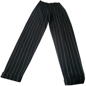 Eres Black Polyester Trousers