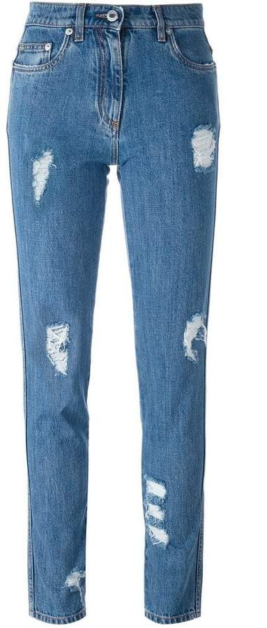 Moschino distressed jeans