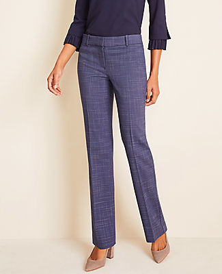 Ann Taylor The Petite Straight Pant In Crosshatch - Curvy Fit